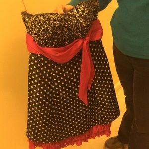 Junior's Formal Polka Dot Sequin Dress